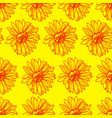 bright sunny floral seamless pattern vector image vector image