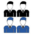 businessmen icon vector image vector image