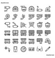 cctv outline icons perfect pixel vector image