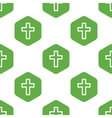 Christian cross pattern vector image vector image