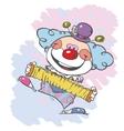 circus clown artist vector image vector image