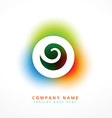 colorful company business abstract logo design vector image vector image