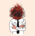 depression or emotional burnout concept with men vector image