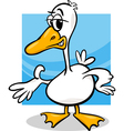 duck or goose cartoon farm bird vector image vector image
