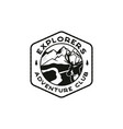 explorers logo emblem vintage hand drawn vector image vector image