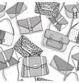 Fashion bags seamless pattern for girls vector image vector image