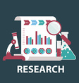 Flat design modern of market research SEO vector image