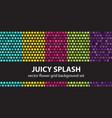 flower pattern set juicy splash seamless vector image vector image