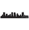 fort worth texas skyline detailed silhouette vector image vector image