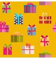 Gift Box Holiday Seamless Pattern Background vector image vector image