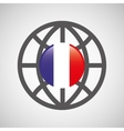 globe sphere flag france country button graphic vector image vector image