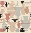Greek vase seamless pattern interiors background vector image