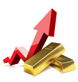 growth gold in financial world investing vector image vector image