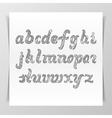 Hand-drawn vintage Lettering Alphabet vector image vector image