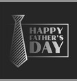 happy fathers day celebration background in dark vector image