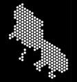 hex tile skyros greek island map vector image vector image