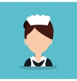 hotel worker housekeeper icon vector image