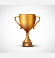 icon golden winner award first place cup vector image vector image