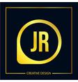 initial letter jr logo template design vector image vector image