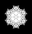 isolated halftone snowflake vector image