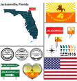 Jacksonville Florida set vector image vector image