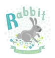 Letter R - Rabbit vector image
