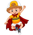 little boy with red cape vector image vector image