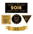 new yea christmas sale big sale discount icons vector image