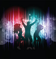 party people on music notes background 2403 vector image