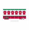 portugal football or soccer team dressing room vector image