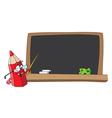 school pencil and blackboard vector image vector image