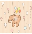 Seamless pattern with flying elephant vector image vector image