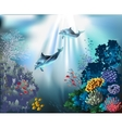 Seascape - underwater world vector image vector image