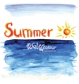 seascape watercolor style vector image vector image