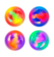 set abstract colorful blurred motion in spheres vector image