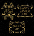 Set hand lettering Easter vector image vector image