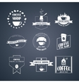 set of coffee logos vector image vector image