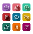 Set of flat business web icons vector image vector image