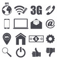 set of pieces plane icons relating to technology vector image