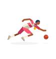 shooting player basketball hoop vector image vector image