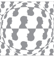 Sphere with man pattern background isolated vector image