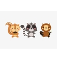 squirrel raccoon and beaver icons image vector image vector image