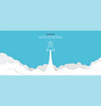 startup background rocket ship launch concept vector image vector image