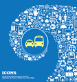 taxi sign symbol Nice set of beautiful icons vector image vector image