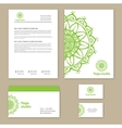 Template corporate style with a round ornament vector image vector image