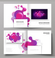 the black colored layout of two covers vector image vector image