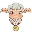 The head of sheep with a gold medal in 2015 vector image vector image