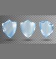 transparent glass shields realistic vector image