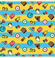 travel seamless cartoon pattern vector image