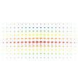 umbrella spectrum halftone array vector image vector image